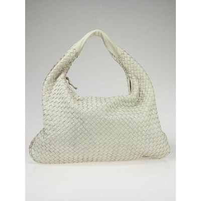 Bottega Veneta White Large Veneta Woven Hobo Bag