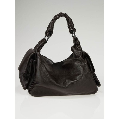 Bottega Veneta Ebano Leather Cervo Cocker Hobo Bag