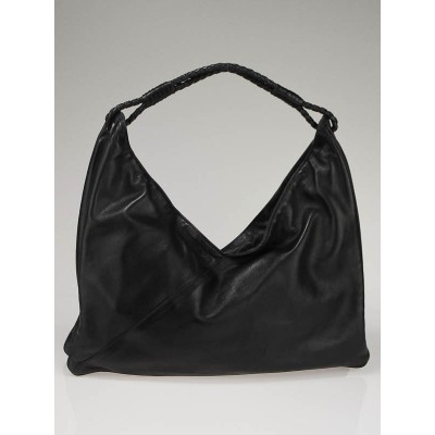 Bottega Veneta Black Leather Hobo Shoulder Bag