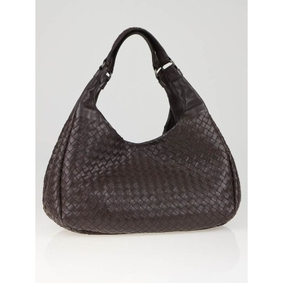 Bottega Veneta Ebano Woven Leather Small Campana Bag