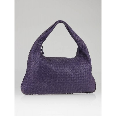 Bottega Veneta Parma Woven Leather Large Veneta Hobo Bag