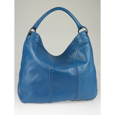 Bottega Veneta Turquoise Cervo Leather Loop Hobo Bag