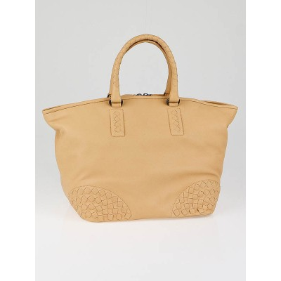 Bottega Veneta Carmel Nappa Leather Shopping Tote Bag