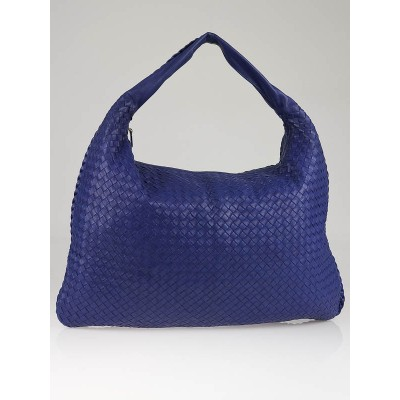 Bottega Veneta Cobalt Intrecciato Nappa Leather Maxi Veneta Hobo Bag