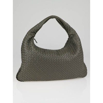 Bottega Veneta Shadow Intrecciato Woven Leather Large Veneta Hobo Bag