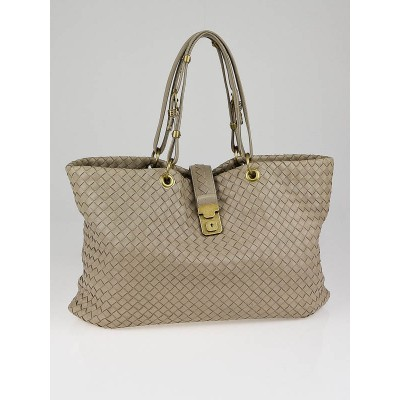Bottega Veneta Limo Woven Leather Large Capri Tote Bag