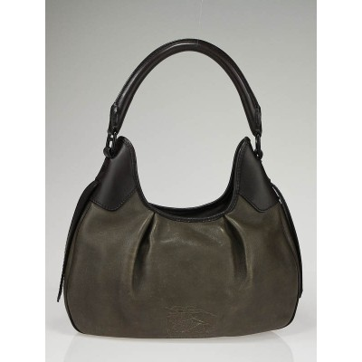Burberry Smog Leather Brooklyn Shoulder Bag
