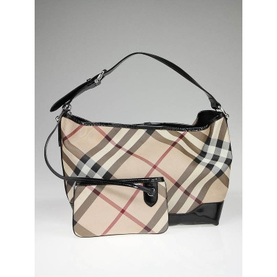 Burberry Nova Check Coated Canvas Tote Bag