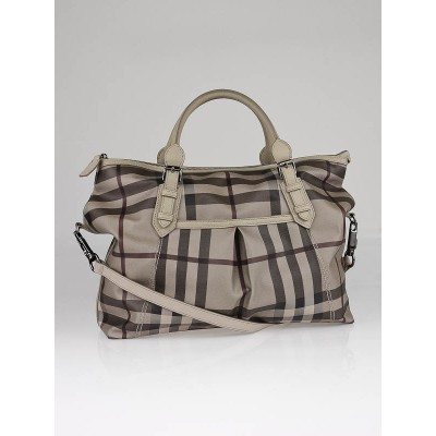 Burberry Tan Classic Check Diaper Bag