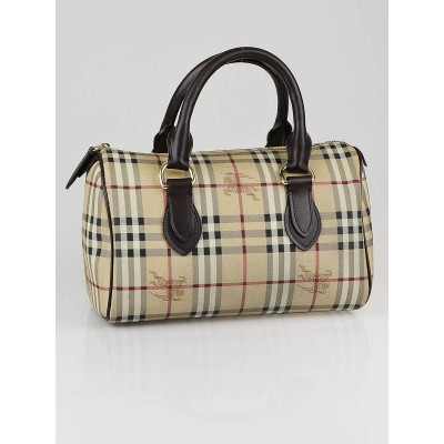 Burberry Medium Haymarket Check Canvas Bowling Bag