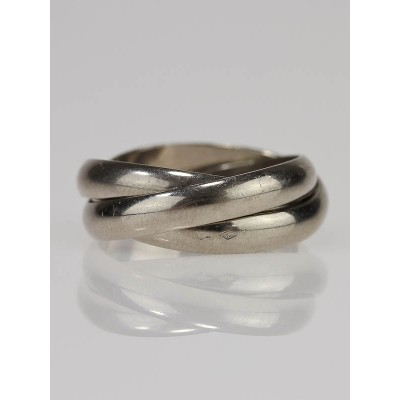 Cartier 18k White Gold Trinity Rolling Ring Size 6.5