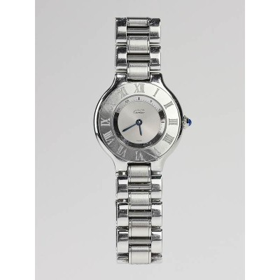 Cartier Stainless Steel 21 Must De Cartier Ladies Watch W10109T2