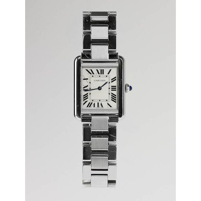 Cartier Stainless Steel Tank Solo Quartz Small Watch W5200013