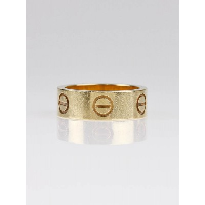 Cartier 18k Gold LOVE Ring - Size 3.5