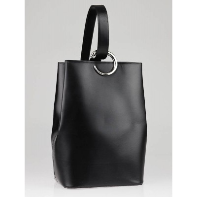 Cartier Black Leather Panthere Sidepack Bag