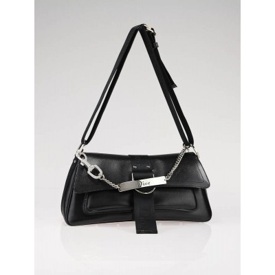 Christian Dior Black Coated Canvas Hardcore Shoulder Bag