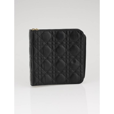 Christian Dior Black Leather Cannage Agenda