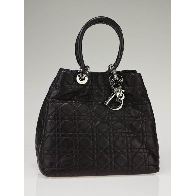 Christian Dior Dark Brown Leather Cannage Lady Dior Bag