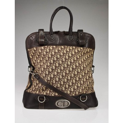 Christian Dior Brown Diorissimo Weekender Travel Bag