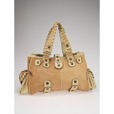 Chloe Beige Leather Large Silverado Tote Bag