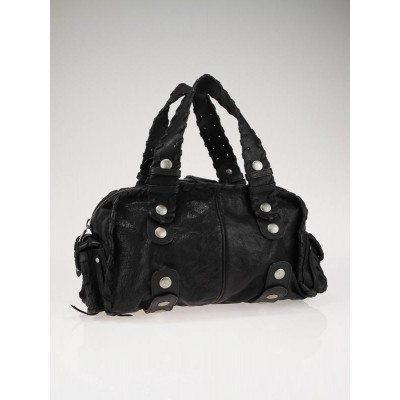 Chloe Black Leather Silverado Satchel Bag