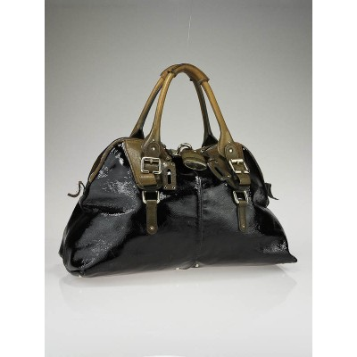 Chloe Black Patent Leather Large Dome Paddington Bag