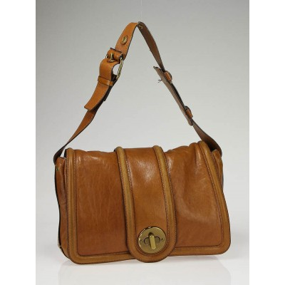 Chloe Tan Leather Ava Shoulder Bag