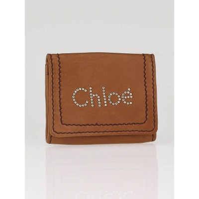 Chloe Whisky Leather Studded Chloe Coin Purse