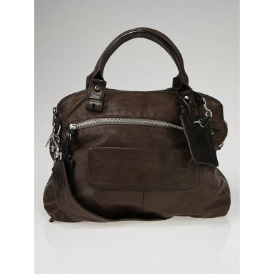 Chloe Chocolate Brown Leather Messenger Bag
