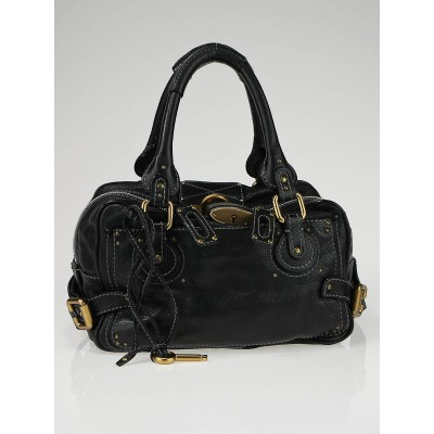 Chloe Black Leather Paddington Small Satchel Bag