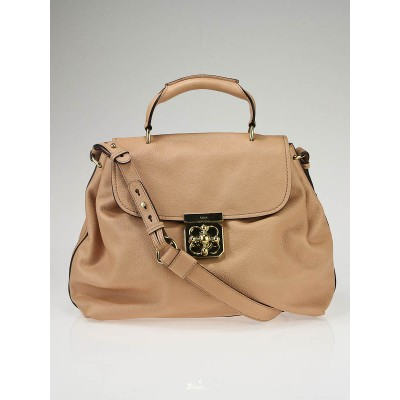 Chloe Nut Leather Elsie Satchel w/ Shoulder Strap Bag