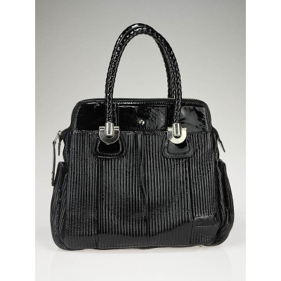 Chloe Black Patent Lambskin Leather Heloise Large Tote Bag