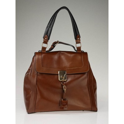 Chloe Chestnut Leather Darla Large Shoulder Bag