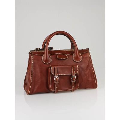 Chloe Muscade Leather Edith Satchel Bag
