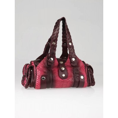 Chloe Fuchsia/Burgundy Degrade Python Medium Silverado Bag