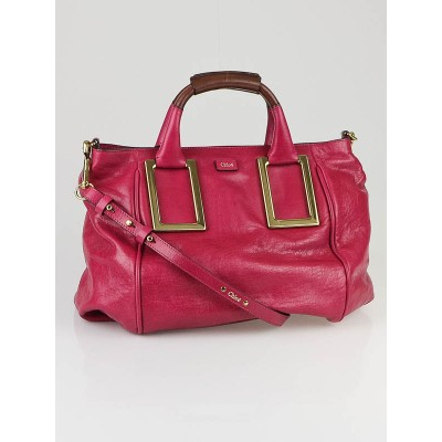 Chloe Raspberry Leather Medium Ethel Satchel Bag