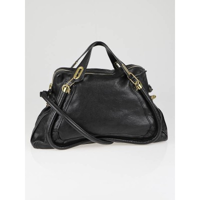 Chloe Black Leather Large Paraty Bag