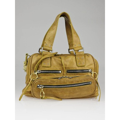 Chloe Mustard Distressed Leather Betty Bag
