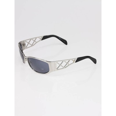 Chanel Silver Metal Swarovski Crystal Lattice Sunglasses 4110-B