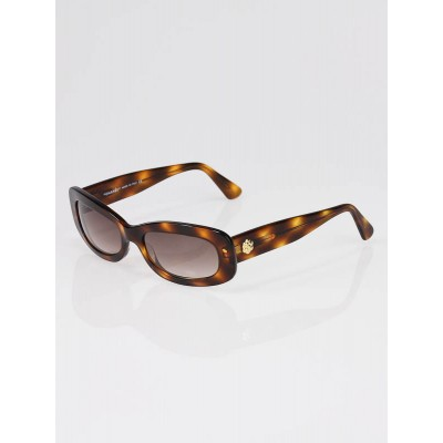 Chanel Tortoise Shell Frame Camellia and CC Logo Sunglasses - 5054
