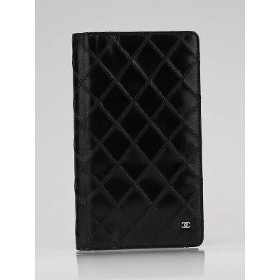 Chanel Black Quilted Leather Long Wallet