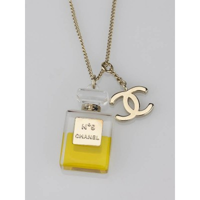 Chanel No. 5 Perfume Bottle Charm Necklace