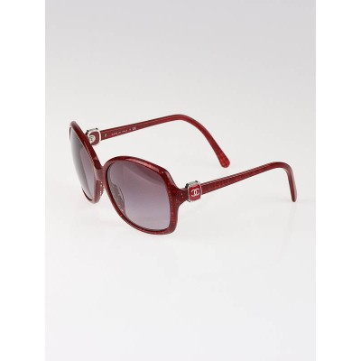 Chanel Red Oversized CC Logo Sunglasses-5174
