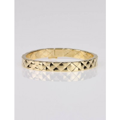 Chanel 18k Gold Metalasse Flexible Bracelet