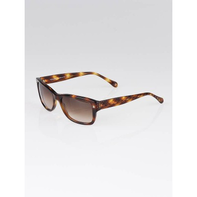 Chanel Brown Tortoise Shell Quilted Sunglasses-5126
