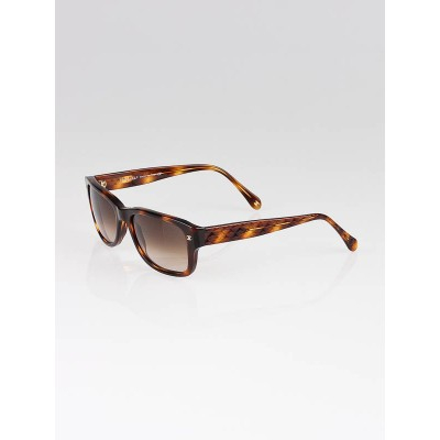 Chanel Brown Tortoise Shell Frame Quilted Sunglasses-5126