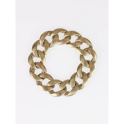 Chanel Brushed Goldtone Metal Chain Bracelet