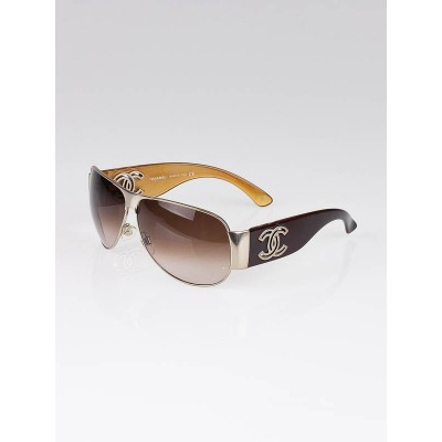 Chanel Gold Frame CC Logo Sunglasses-4153