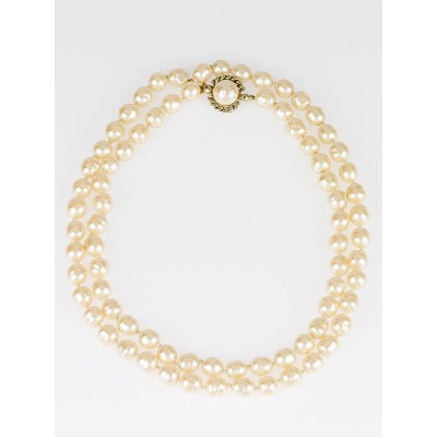 Chanel Vintage Pearl Long Necklace