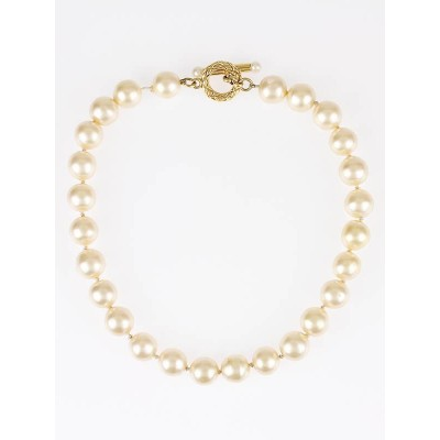 Chanel Vintage Faux Pearl Choker Necklace